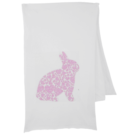 This pink bunny scarf makes an adorable accessory to carry anywhere. Perfect for gift giving, even that impossible to please young lady on your list will love this.