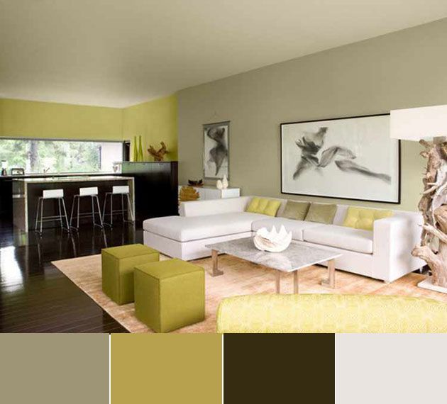 40 combinaciones de colores para pintar un sal n - Combinacion de colores para pintar interiores ...
