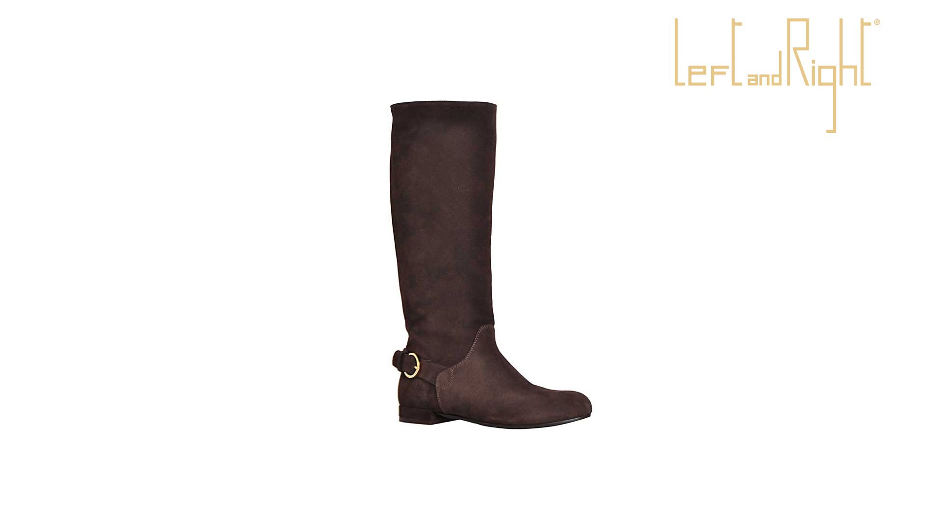 Calf crust boot dark brown, leather sole with rubber injection on the plant.