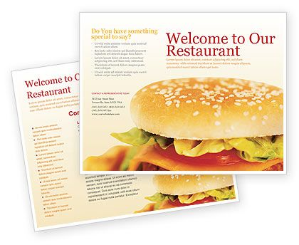 Double sided Fast Food Brochure Template http\/\/www - food brochure