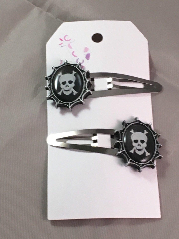 Skull Hair Clips Hair Clips My Etsy Shop Skull