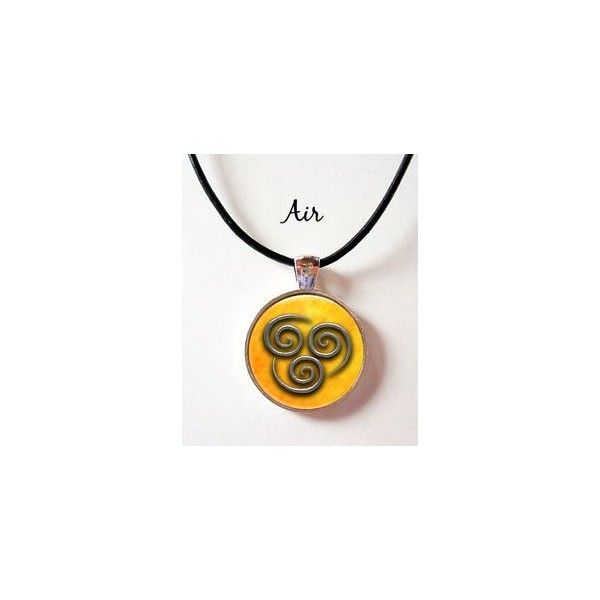 Items similar to Last Airbender Elements Symbol Pendant Choice of Air... ❤ liked on Polyvore featuring jewelry, pendants, vintage jewelry, vintage jewellery, vintage pendants, pendant jewelry and leather cord jewelry