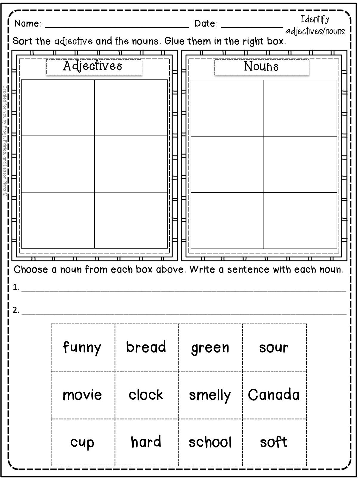 medium resolution of Adjective Resources For 1st Graders   Teaching adjectives