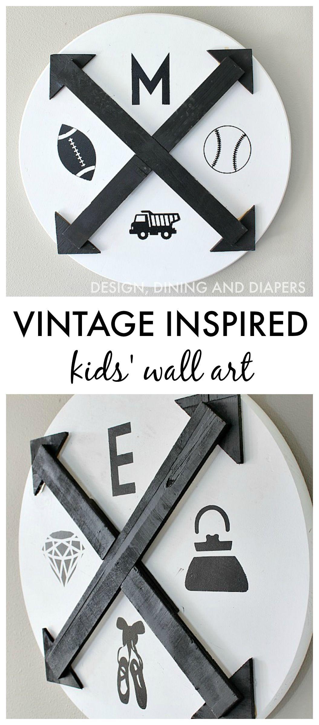 DIY Vintage Inspired Wall Art For Kids + Giveaway   Kids ...