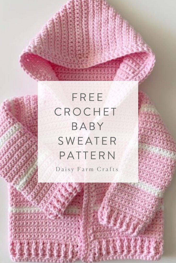 Photo of Click the image to get your Crochet Baby Girl Cardigan Free Pattern!