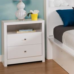 Ebern Designs Tidworth Tall 2 Drawer Nightstand With Images