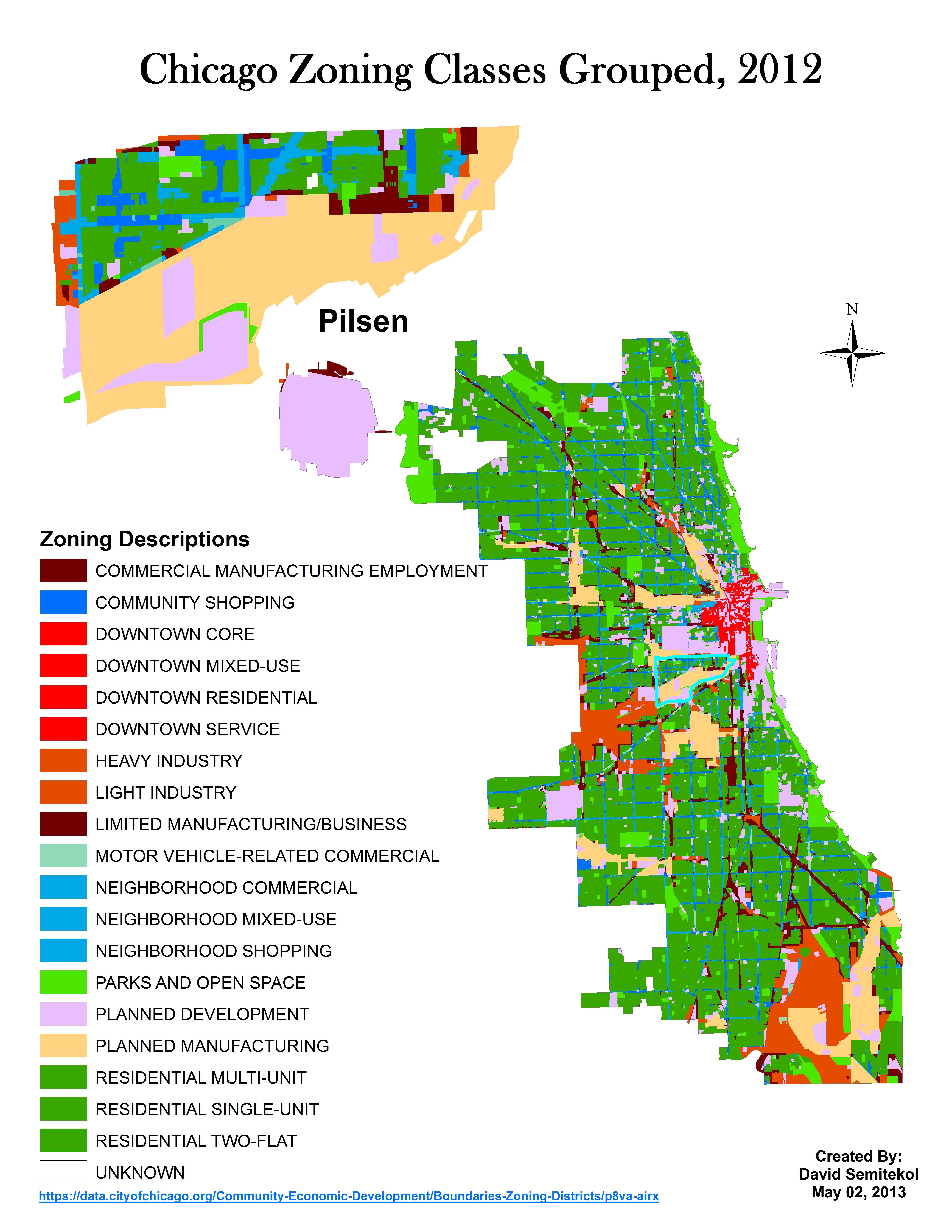 Pilsen Zoning Map