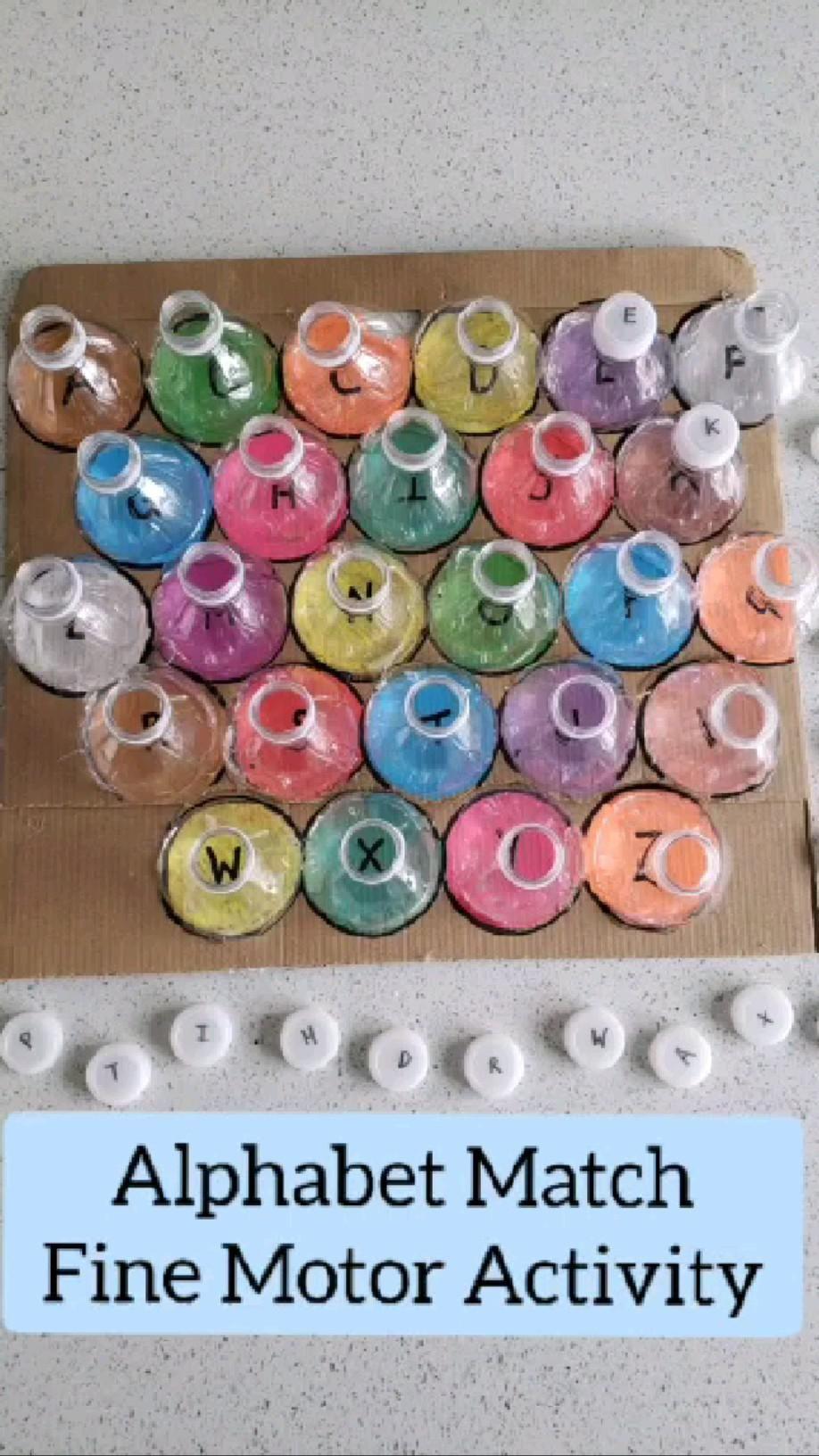Toddler Activities, DIY Kids Game, Preschool Alphabet Activities #summeractivitiesforkids