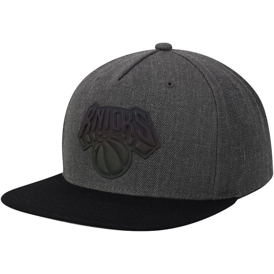 Men s New York Knicks Mitchell   Ness Charcoal Matte Tonal Snapback  Adjustable Hat 494d376a0ce7
