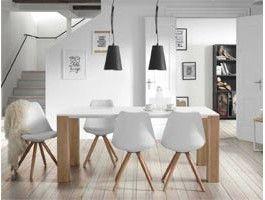 beau chaise bois blanc salle manger | Décoration française ...