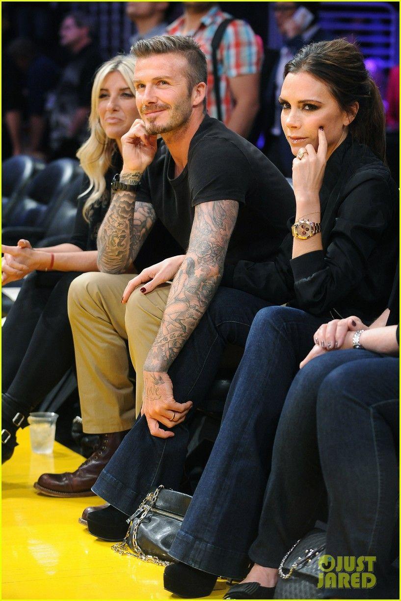 David & Victoria Beckham - Courtside at Lakers Game Credit ...