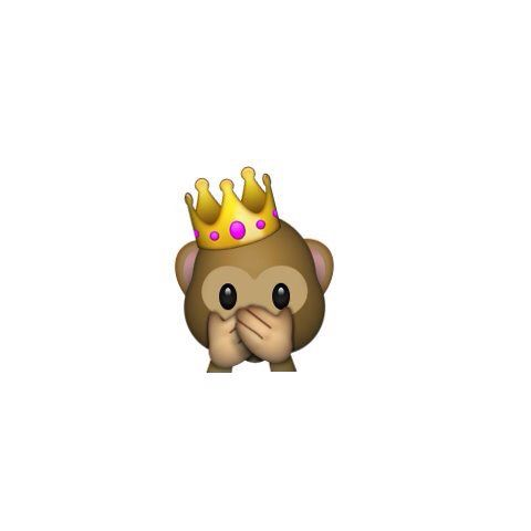 Monkey Holding Its Mouth With A Crown Emoji Backgrounds Monkey Emoji Love Wallpaper