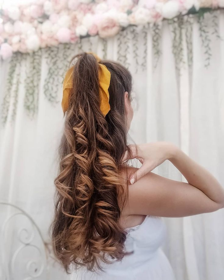Flower Curl no heat curls results half up half down updo using a scrunchie ribbon . . Use the curler overnight or #noheathair Flower Curl  no heat curls results  half up half down updo using a scrunchie ribbon . . Use the curler overnight or... - #curler #curls #flower #results #ribbon #scrunchie #using - #HairstyleCuteCurls #noheathair Flower Curl no heat curls results half up half down updo using a scrunchie ribbon . . Use the curler overnight or #noheathair Flower Curl  no heat curls results #noheathair