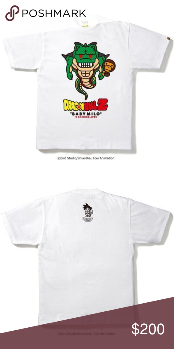 fed421f4 BAPE DBZ SHENRON BABY MILO #2 TEE WHITE New With Tags. 100% Authentic.  Visit. April 2019