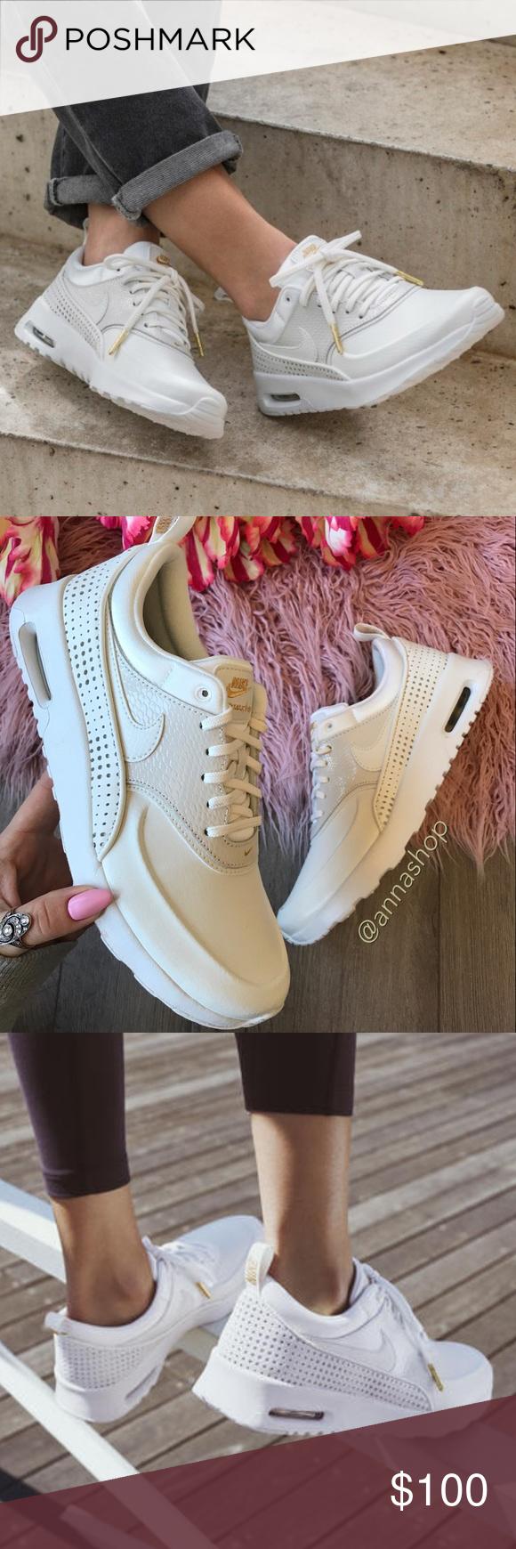 nike air max thea premium leather white