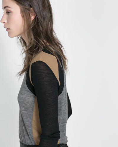 THREE-TONE T-SHIRT from Zara
