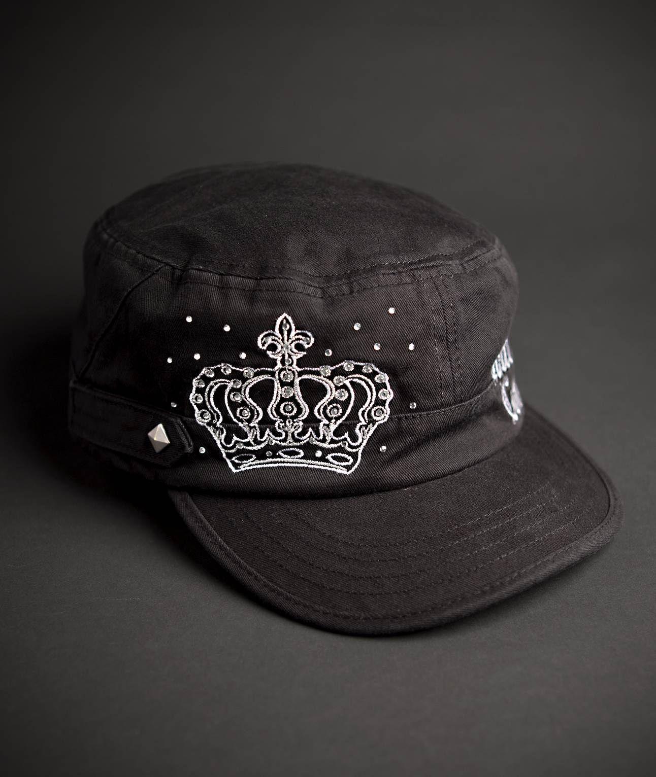 Hard rock cafe couture cadet hat in white cadet hat