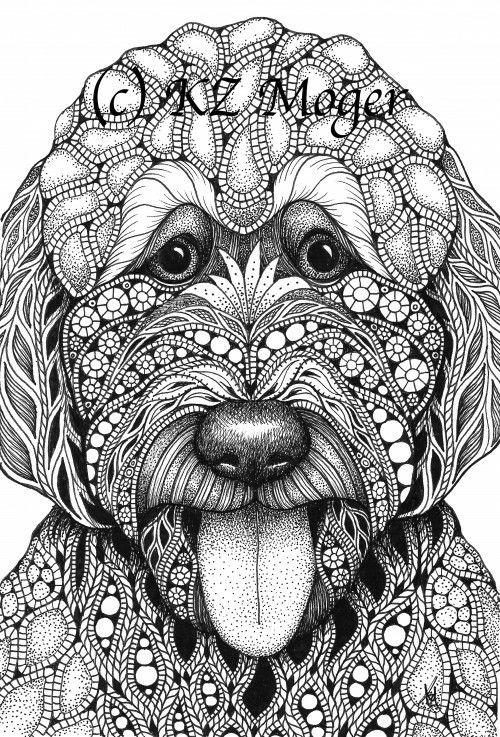 Labradoodle Labradoodle Art Dog Coloring Page Labradoodle Drawing