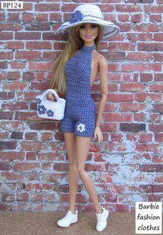 Lindo macaquinho para sua boneca passear no verão em crochê #knitteddollpatterns
