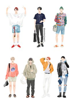 Bts Watersmell Fanart Art Clothes Clothing Sketches Fashion Drawing
