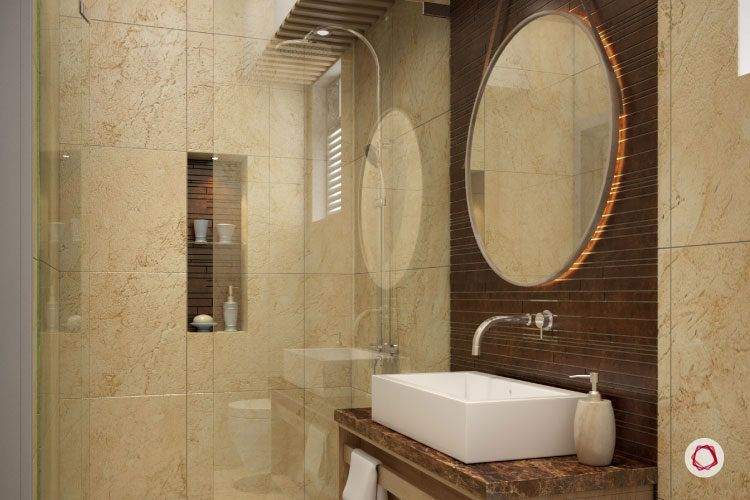How To Make A Compact Bathroom Look Bigger Trendy Bathroom Tiles Bathroom Design Small Small Space Bathroom Design