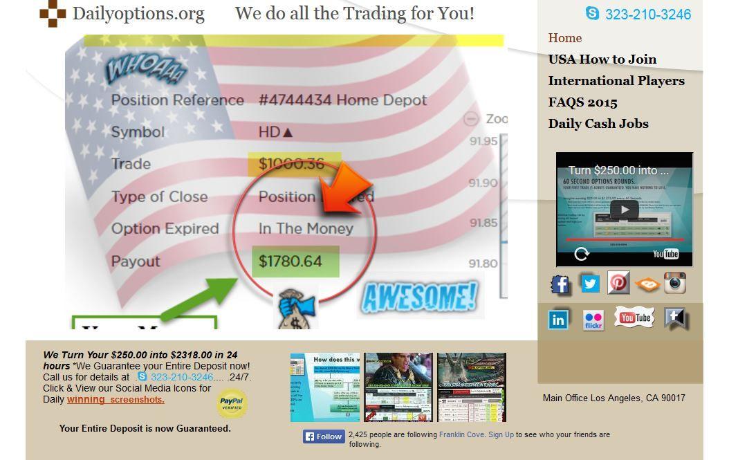 Binary options live signals facebook sports betting brokerage