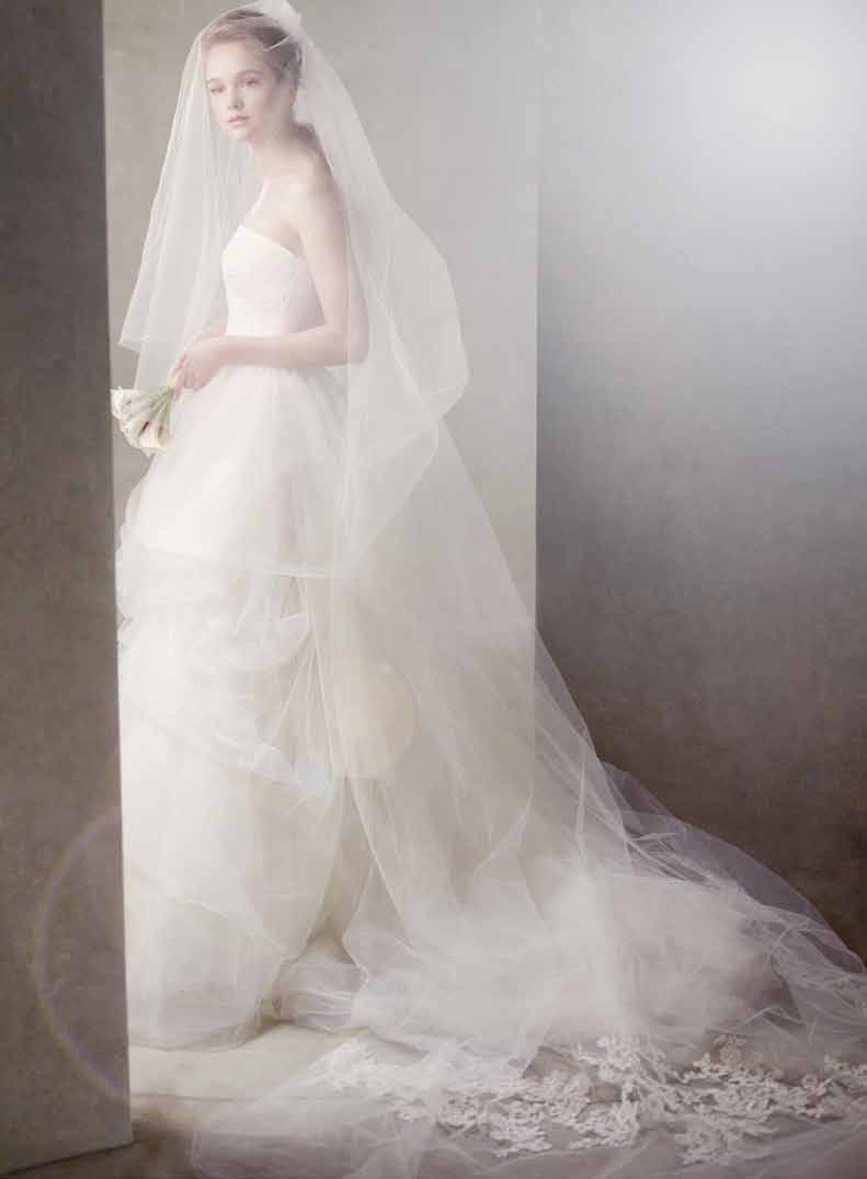 97a624889358 wedding veils - Vera Wang | Bridal and weddings | Chapel length veil ...