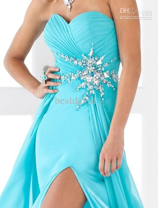 Tiffany blue dress   Liked or disliked, either way is pretty   Pinterest