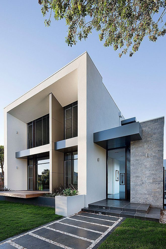 Fachada casa minimalista pinterest fachadas for Arquitectura moderna minimalista