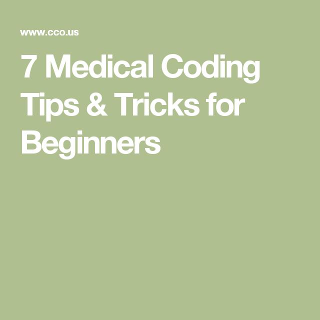 7 Medical Coding Tips & Tricks for Beginners | Medical Coding ...