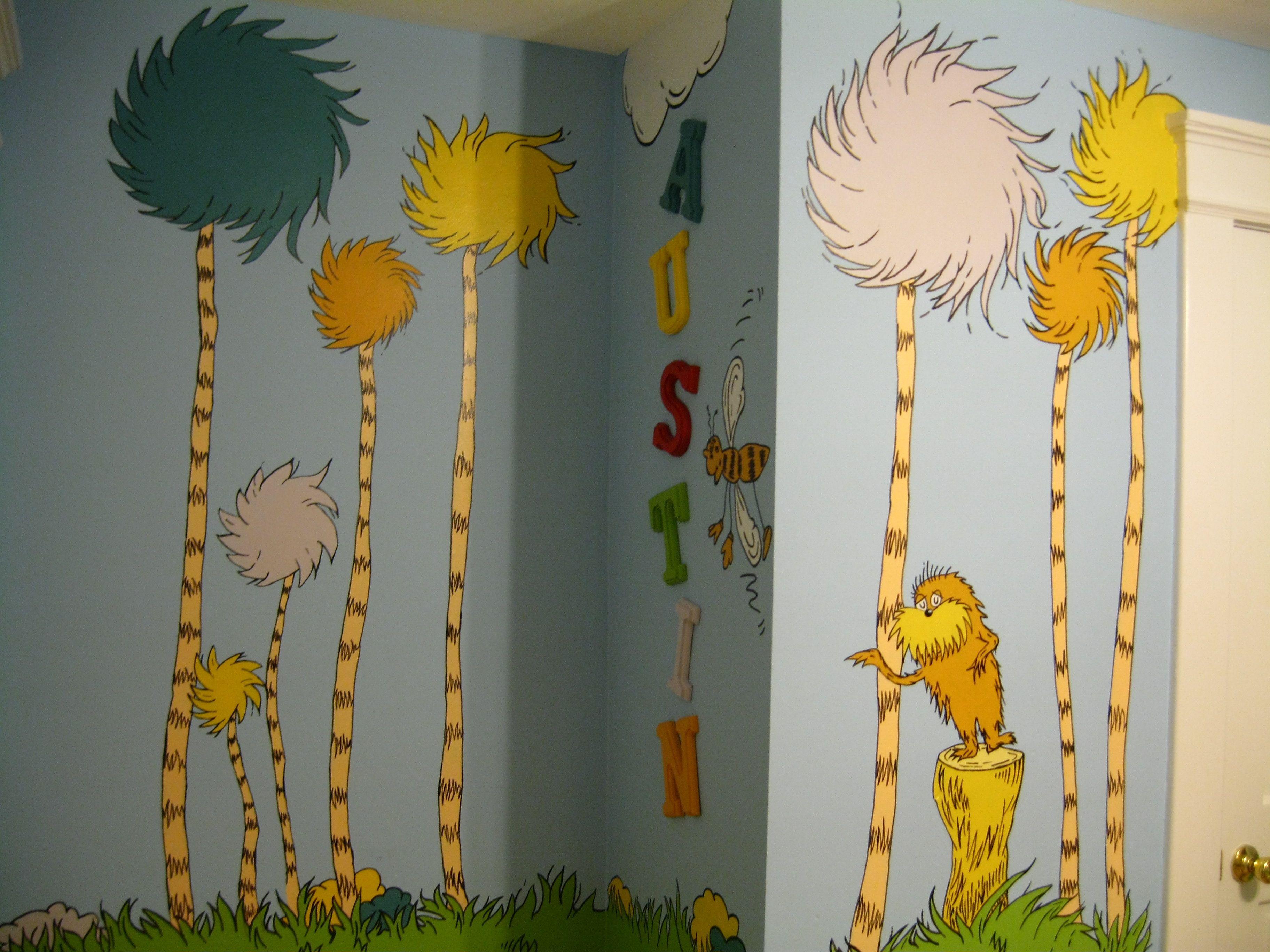 Dr. Seuss, the Lorax, Mural, Nursery | Baby stuff | Pinterest