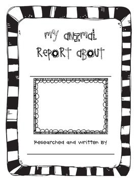 My Animal Report  Fiction Template And Animal