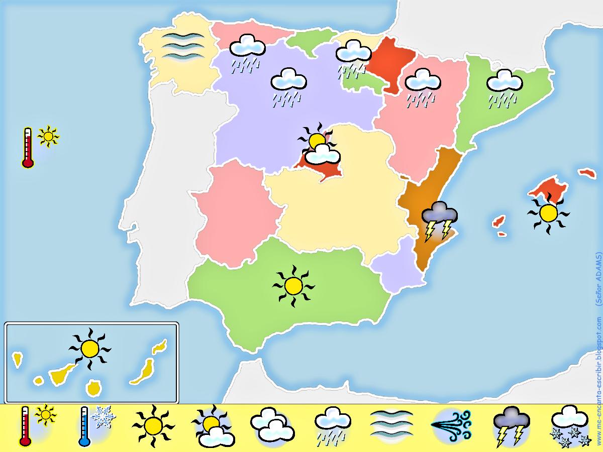 Mapa De Tiempo Espana.Crear Un Mapa Del Tiempo En Espana Mapas Del Tiempo Tiempo En Espana Clima En Espana