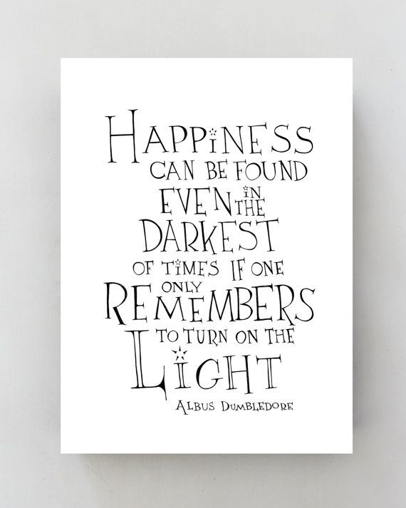 Albus Dumbledore Inspirational Wall Art Print Motivational Quote Poster Decor