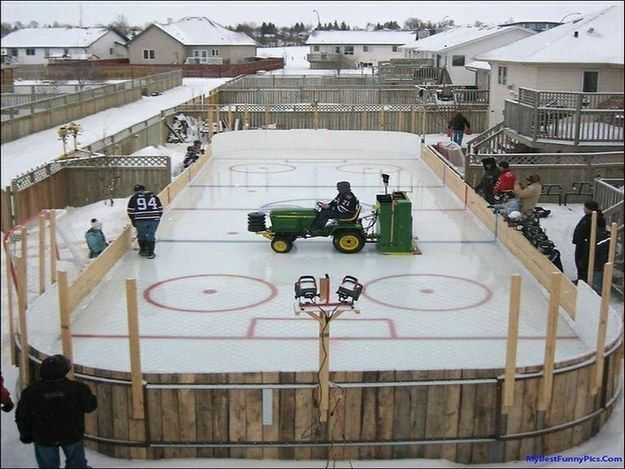 An Ice Hockey Rink Backyard Ice Rink Backyard Rink Backyard Hockey Rink