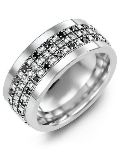 Men S Illusion Black Diamond Wedding Ring Black Diamond Wedding Rings Black Diamond Wedding Bands Diamond Wedding Bands