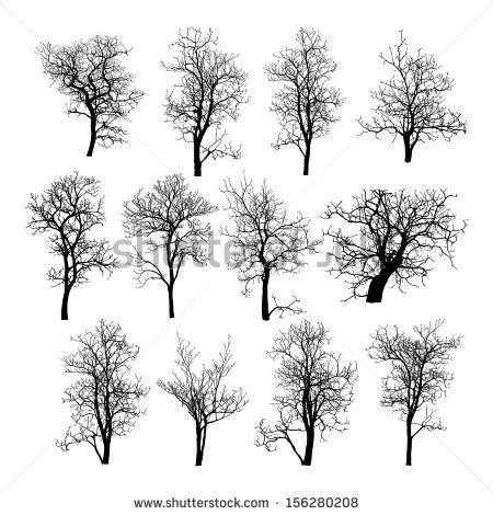 Tree Silhouettes Vector Stock Vectors & Vector Clip Art | Shutterstock