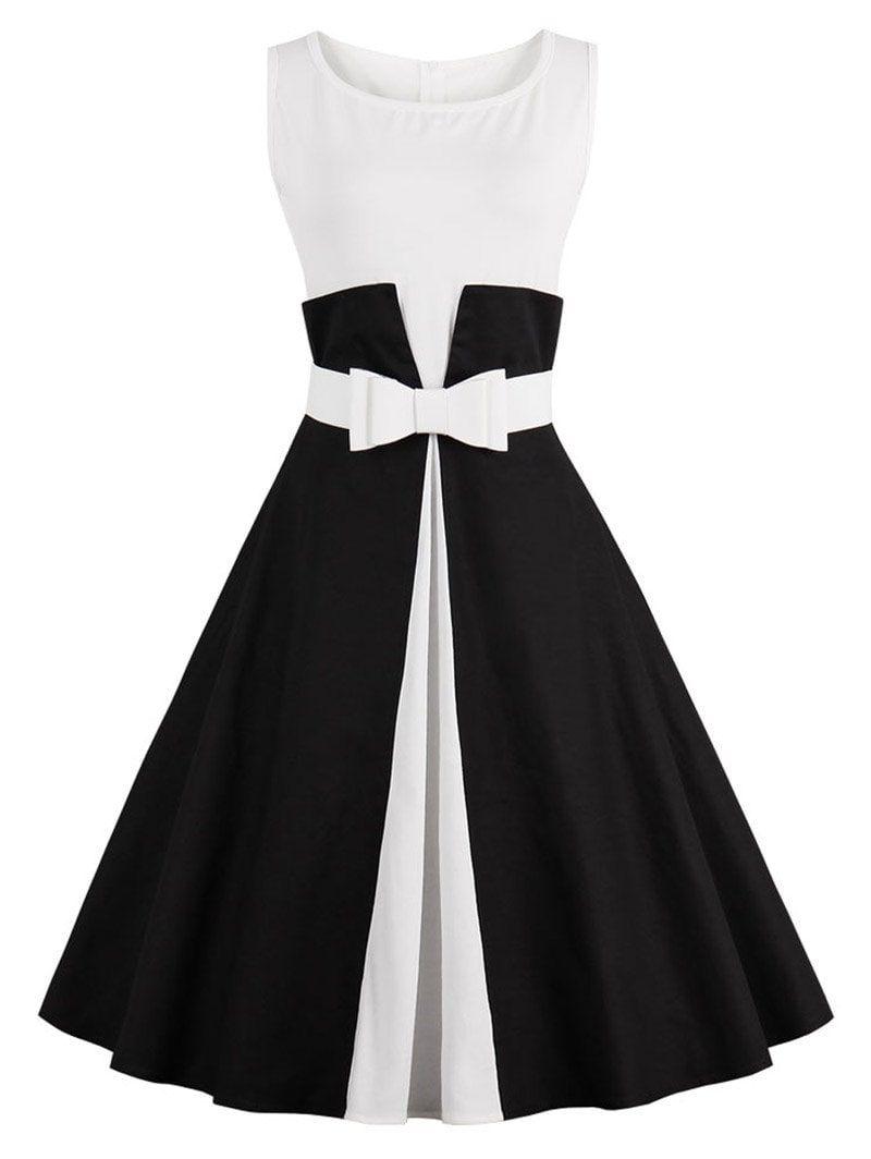 Color Block Cocktail Pin Up Dress | Pinterest | Nähen