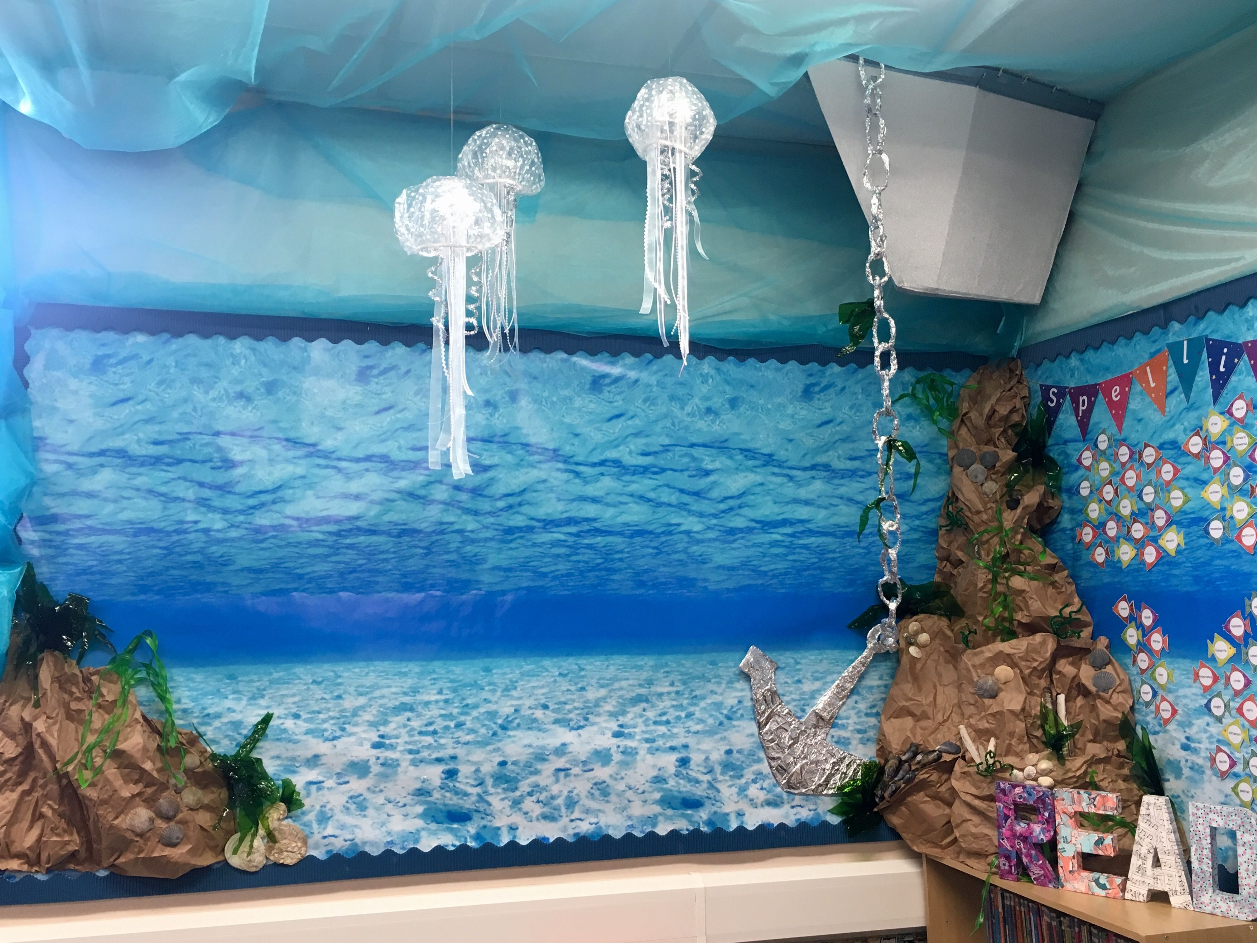 Under The Sea Reading Corner Display If Reading Has Become