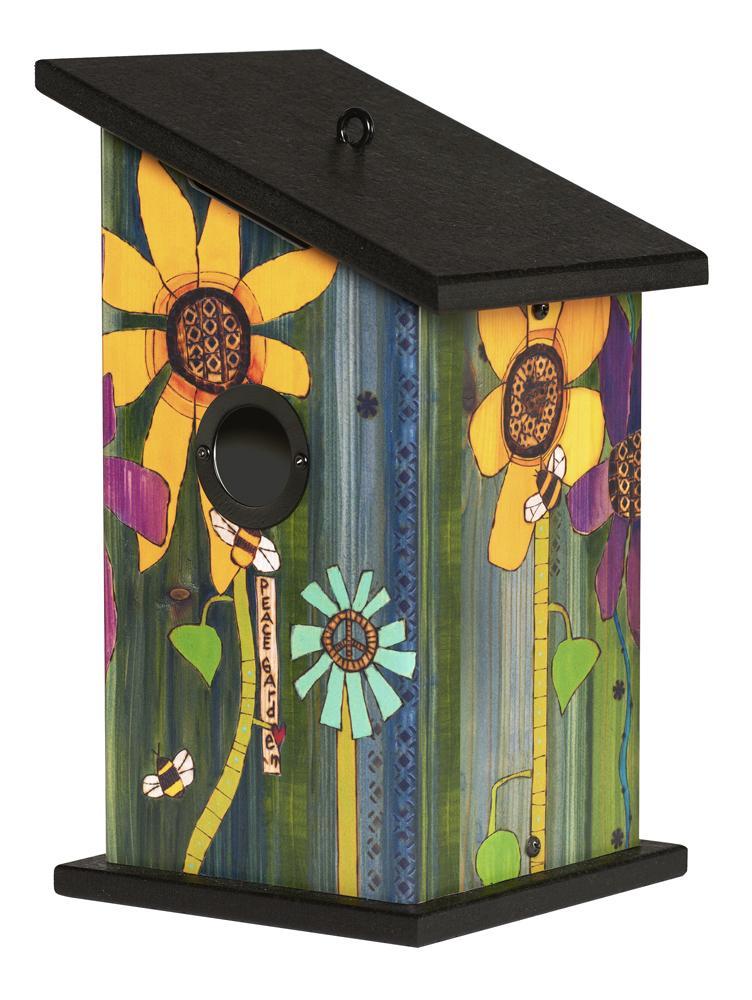 Peace Garden Birdhouse #birdhouses Peace Garden Birdhouse #birdhouses