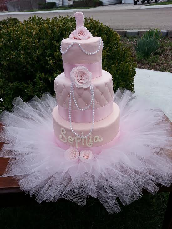 Astounding 1St Birthday Tutu Cake Facebook Com Simplycakes Brittneyshiley Personalised Birthday Cards Akebfashionlily Jamesorg