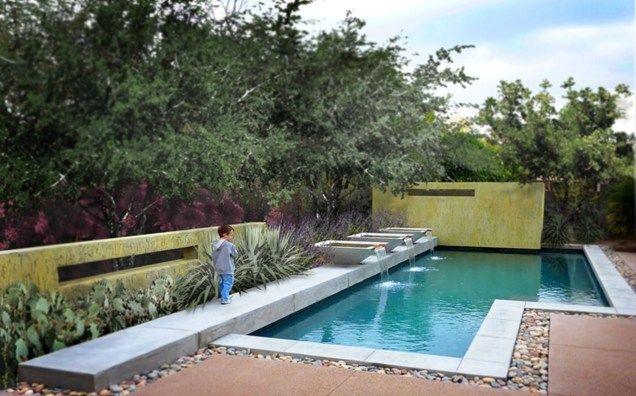 Geometric Pool Design Modern Landscaping Bianchi Design Scottsdale, ...