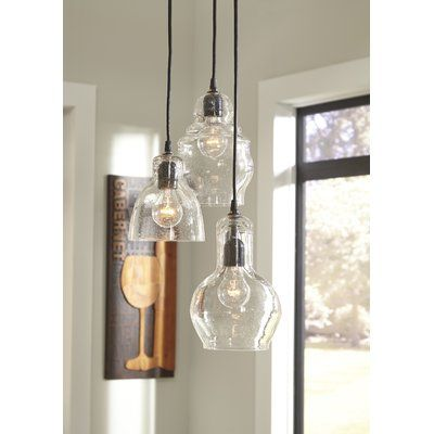 This Light S Clear Glass Shade Boasts A Curved Vase Like Shape For A Lovely Silhouette Tha Glass Pendant Light Clear Glass Pendant Light Island Pendant Lights