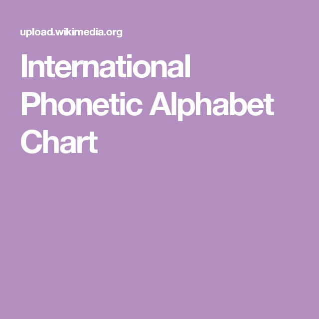 International Phonetic Alphabet Chart  Speechie Keen