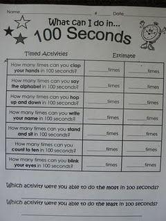 100th day math