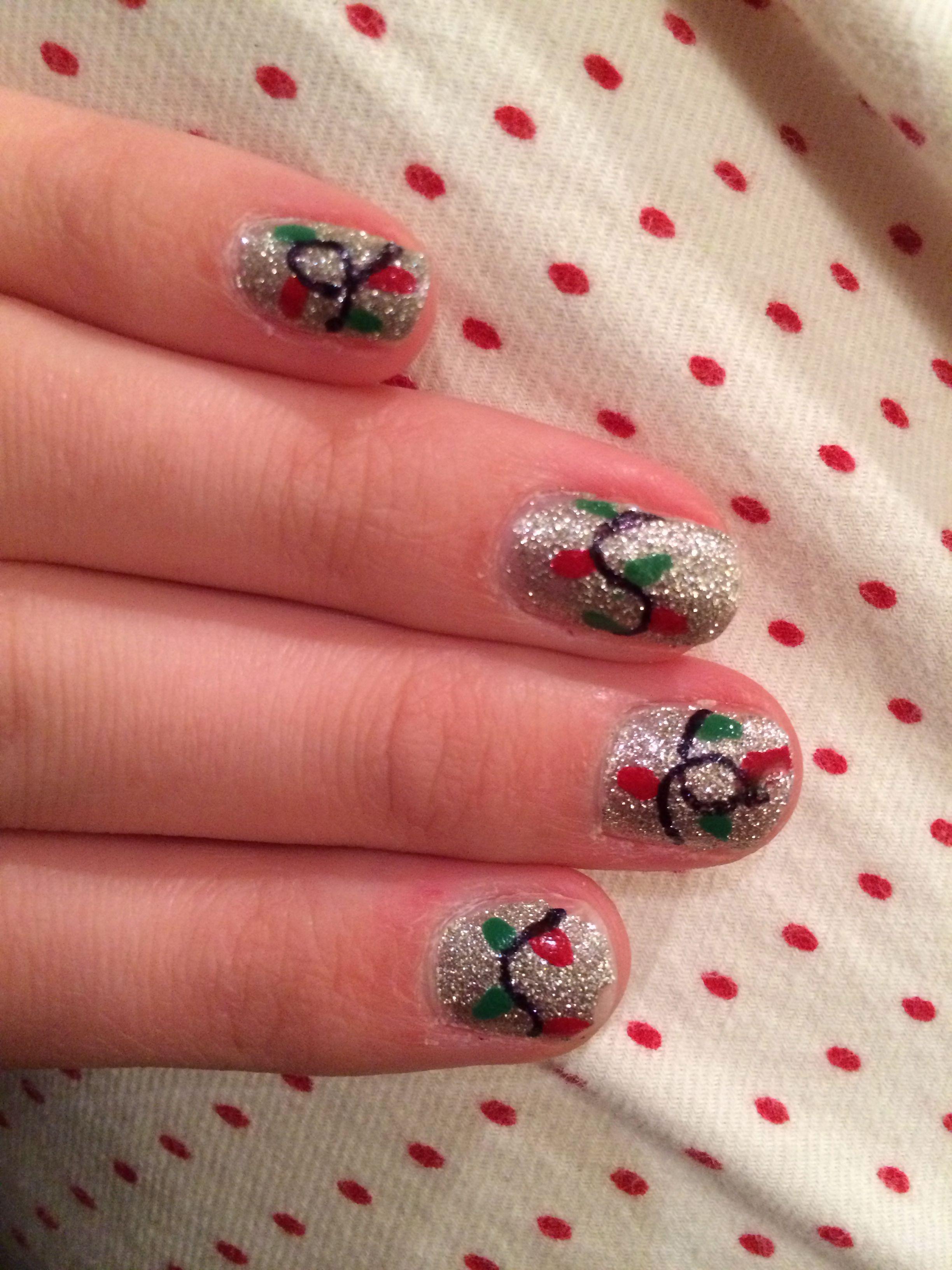 fun christmas nails painted