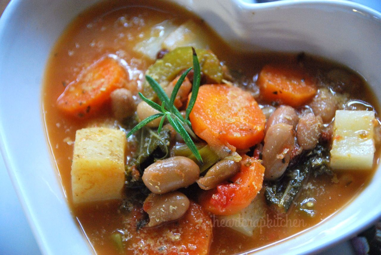 <p>Something for a rainy day – a filling hearty soup. Go away, rain. I can't afford to emigrate. Tuscan Ribollita Ingredients (serves 4 as a main) 1 leek or medium onion, chopped 2 ribs of celery, chopped 1 large carrot, diced 3 cloves of garlic, minced 1 medium potato, diced …</p>