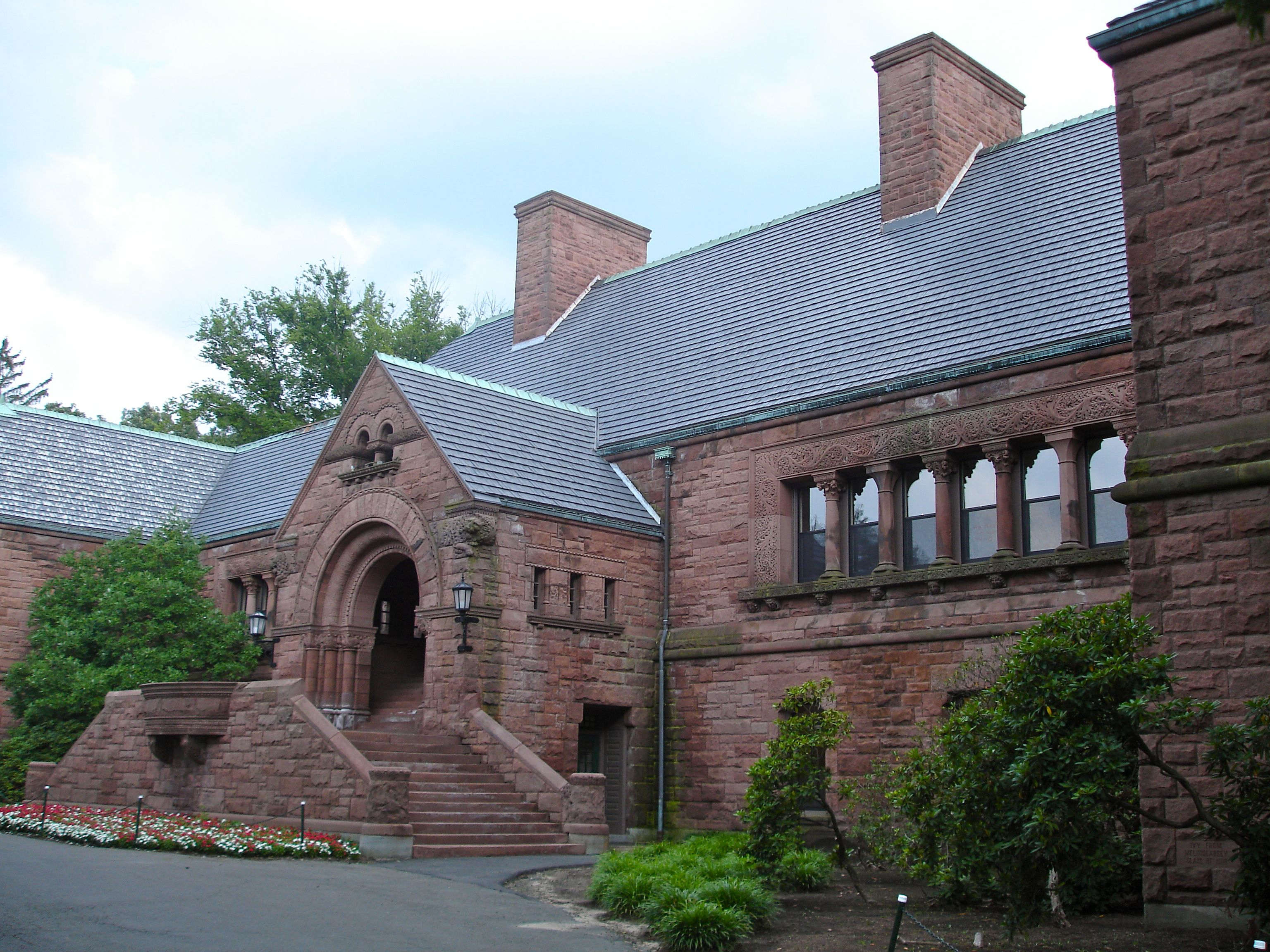 The Lawrenceville School Memorial Hall In NJ. North Country Vermont Black  Slate Roof (20