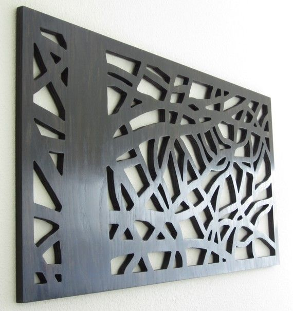 Natural Wall Art, Modern Wall Art, Large Art, Abstract Nature - Rich Ebony - 4 feet wide