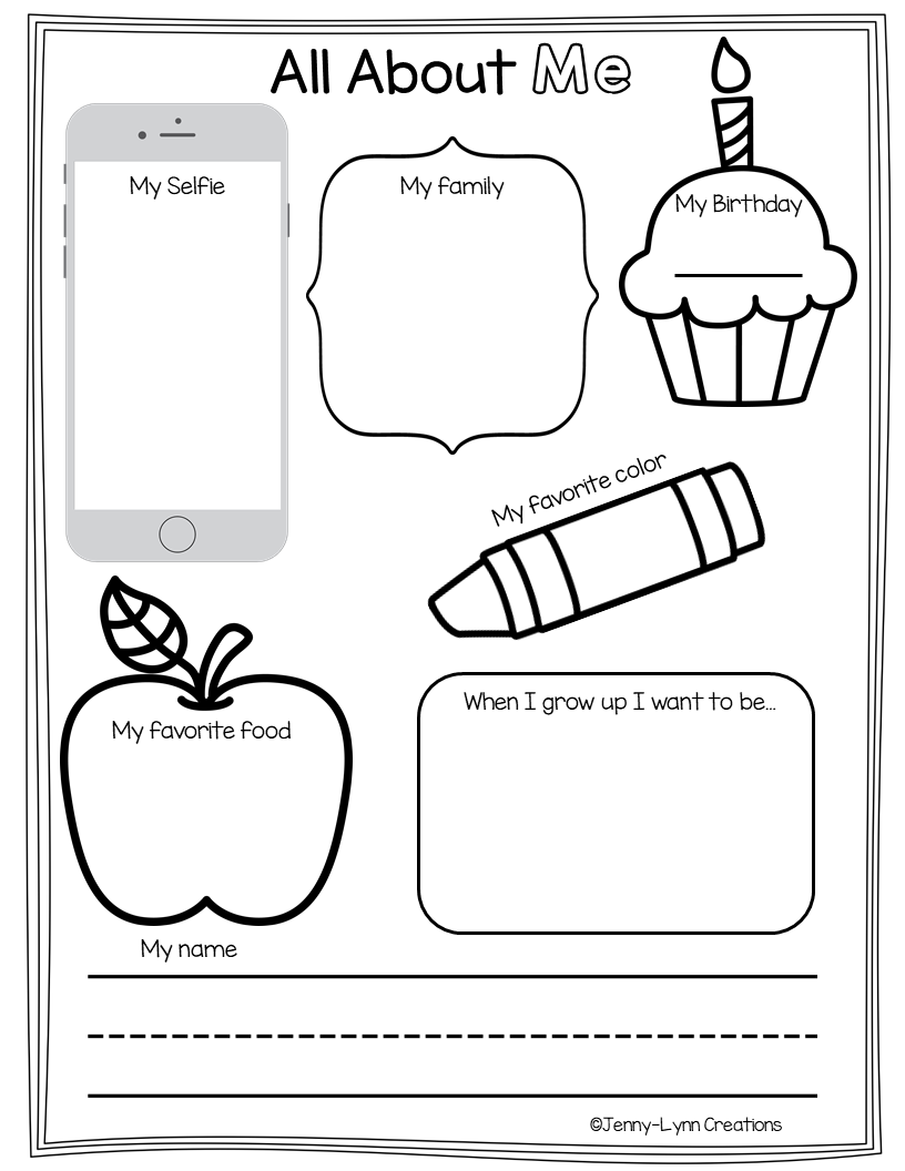 Back To School Pre K Math And Literacy First Day Of School Activities Back To School Worksheets School Lesson Plans [ 1056 x 816 Pixel ]